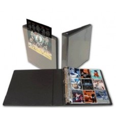 BCW 2 Inch Black Clearview D Ring Binder Album with Clear Pocket Cover