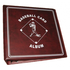 BCW 3 Inch Burgundy Baseball Card D-Ring Album binder