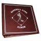 BCW 3 Inch Burgundy Baseball Card D-Ring Album binder