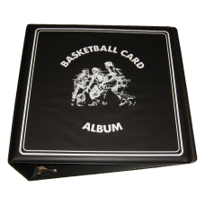 BCW 3 Inch Black Basketball Card Collector D-Ring Binder Album