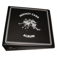 BCW 3 Inch Black Hockey Card Collector D-Ring Binder Album