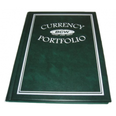 BCW Green Regular Small Currency Portfolio Albums w/ Pages