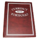 BCW Burgundy Regular Small Currency Portfolio w/ Pages