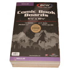Pack of 100 BCW Regular Comic Book Acid Free Backer Boards 6 7/8 x 10 1/2