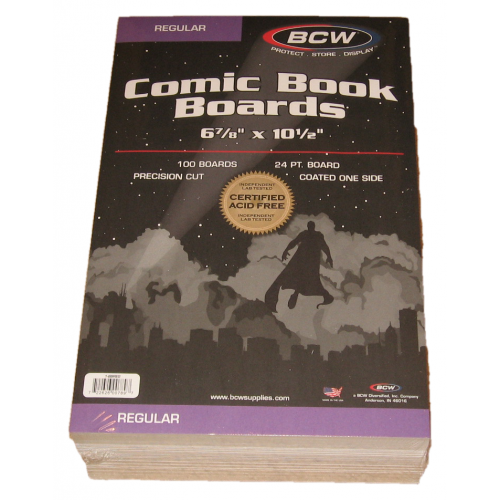 200 BCW Silver Age Comic Book Acid Free Backing Boards white backers