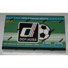 Factory Sealed 24 Pack Hobby Box 2015 Donruss Soccer Trading Cards