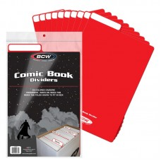 Pack of 25 BCW Red Plastic Comic Book Dividers with Folding Write On Tab