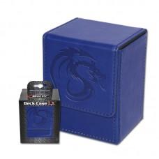 BCW Blue Deck Case LX Gaming Card Leatherette Storage Box