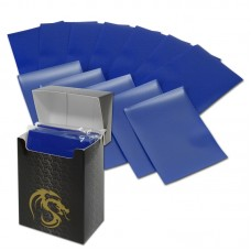 Pack of 80 Boxed BCW Blue Matte Deck Guards MTG CCG Gaming Card Sleeves pokemon