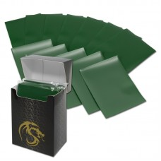 Pack of 80 Boxed BCW Green Matte Deck Guards MTG CCG Gaming Card Sleeves pokemon