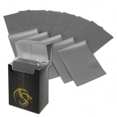 Pack of 80 Boxed BCW Gray Matte Deck Guards MTG CCG Gaming Card Sleeves pokemon