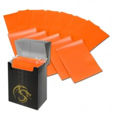 Pack / 80 Boxed BCW Orange Matte Deck Guards MTG CCG Gaming Card Sleeves pokemon