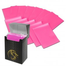 Pack of 80 Boxed BCW Pink Matte Deck Guards MTG CCG Gaming Card Sleeves pokemon