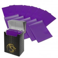 Pack / 80 Boxed BCW Purple Matte Deck Guards MTG CCG Gaming Card Sleeves pokemon