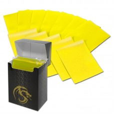 Pack / 80 Boxed BCW Yellow Matte Deck Guards MTG CCG Gaming Card Sleeves pokemon