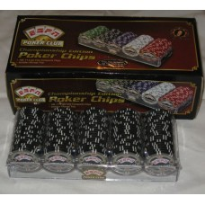 100 Black ESPN Poker Club Championship Edition 11.5 Gram Chips with Storage Tray