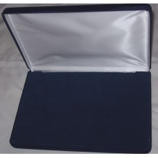 Blue Felt Lined 10 x 7 x 1 1/8 Postcard or Currency Presentation Display Box