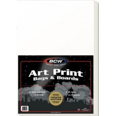 Pack of 25 BCW Premade 11x17 Art Print Archival Clear Poly Bags + Backer Boards