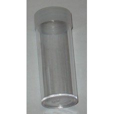 10 BCW Clear Round Quarter Coin Tubes With Frosted Screw On Cap