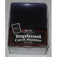 Case / 1000 BCW 3 x 4 Topload Card Holders Plain 12 Mil Toploads