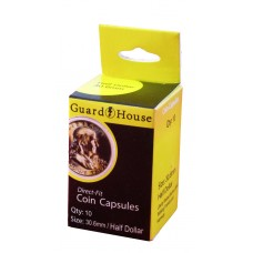 Pack of 10 Guardhouse 30.6mm Half Dollar Round Direct Fit Coin Capsules holders