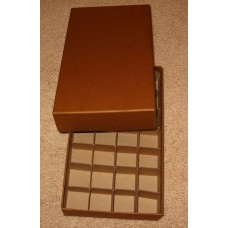 Guardhouse 28 US Half Dollar Coin Tube Heavy Duty Brown Matte Storage Box