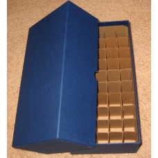 Guardhouse 50 US Nickel Coin Tube Heavy Duty Blue Matte Storage Box