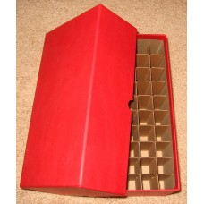 Guardhouse 50 US Penny Cent Coin Tube Heavy Duty Red Matte Storage Box
