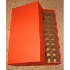 Guardhouse 50 US Quarter Coin Tube Heavy Duty Orange Matte Storage Box