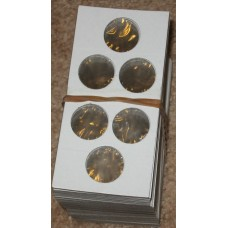 Pack of 100 Guardhouse Triple Penny 2x2 Paper Coin Flips cardboard holders