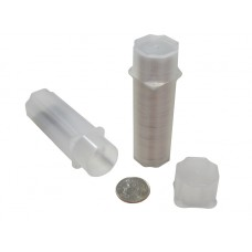 10 Guardhouse Translucent Plastic 17.9mm Dime Square Coin Storage Tubes