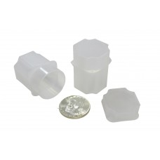 10 Guardhouse Translucent Plastic 30.6mm Half Dollar Square Coin Storage Tubes