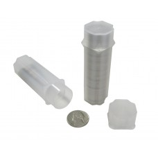 10 Guardhouse Translucent Plastic 21.2mm Nickel Square Coin Storage Tubes