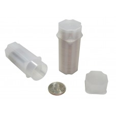 10 Guardhouse Translucent Plastic 24.3mm Quarter Square Coin Storage Tubes