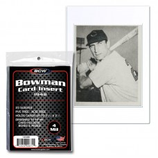 Pack of 25 BCW 1948 Bowman Baseball Card Soft Clear Archival Poly Insert Sleeves