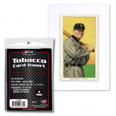 Pack of 25 BCW Tobacco Baseball Card Soft Clear Archival Poly Insert Sleeves