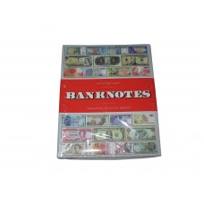 Lighthouse Banknotes 300 Bill Storage Album with Banknote Currency Motif Cover