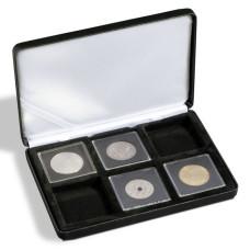 Lighthouse Nobile Q6 Black Six Quadrum Coin Holder Presentation Display Box