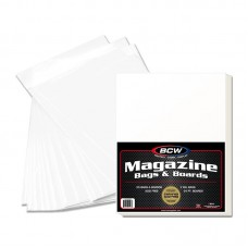 Pack of 25 BCW Premade Magazine Clear Poly Bag + Acid Free Backer Board Combos