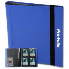 BCW Blue Pro-Folio 4 Pocket Collectible Gaming Card Album Holds 160 Cards