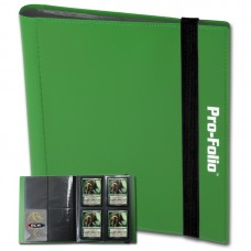 BCW Green Pro-Folio 4 Pocket Collectible Gaming Card Album Holds 160 Cards