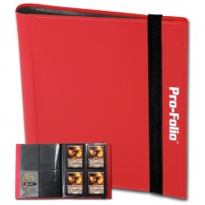 BCW Red Pro-Folio 4 Pocket Collectible Gaming Card Album Holds 160 Cards
