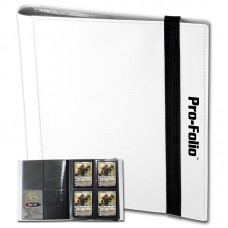 BCW White Pro-Folio 4 Pocket Collectible Gaming Card Album Holds 160 Cards