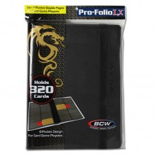 BCW Black Pro-Folio 8 Pocket LX Trading / Gaming Card Leatherette Album Binder