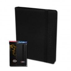 BCW Black Collectible Gaming Card Pro-Folio 9-Pocket LX Leatherette Album