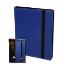 BCW Blue Collectible Gaming Card Pro-Folio 9-Pocket LX Leatherette Album
