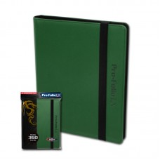 BCW Green Collectible Gaming Card Pro-Folio 9-Pocket LX Leatherette Album