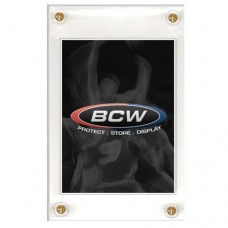 One BCW 4-Screw Recessed Trading Card Screwdown Holder
