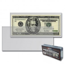 Pack of 50 BCW Deluxe Currency Holders - Regular Bill Size