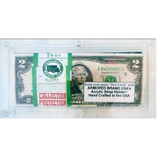 Armored Brand USA Clear Acrylic Bulk Modern US Currency Dollar Bill Strap Holder